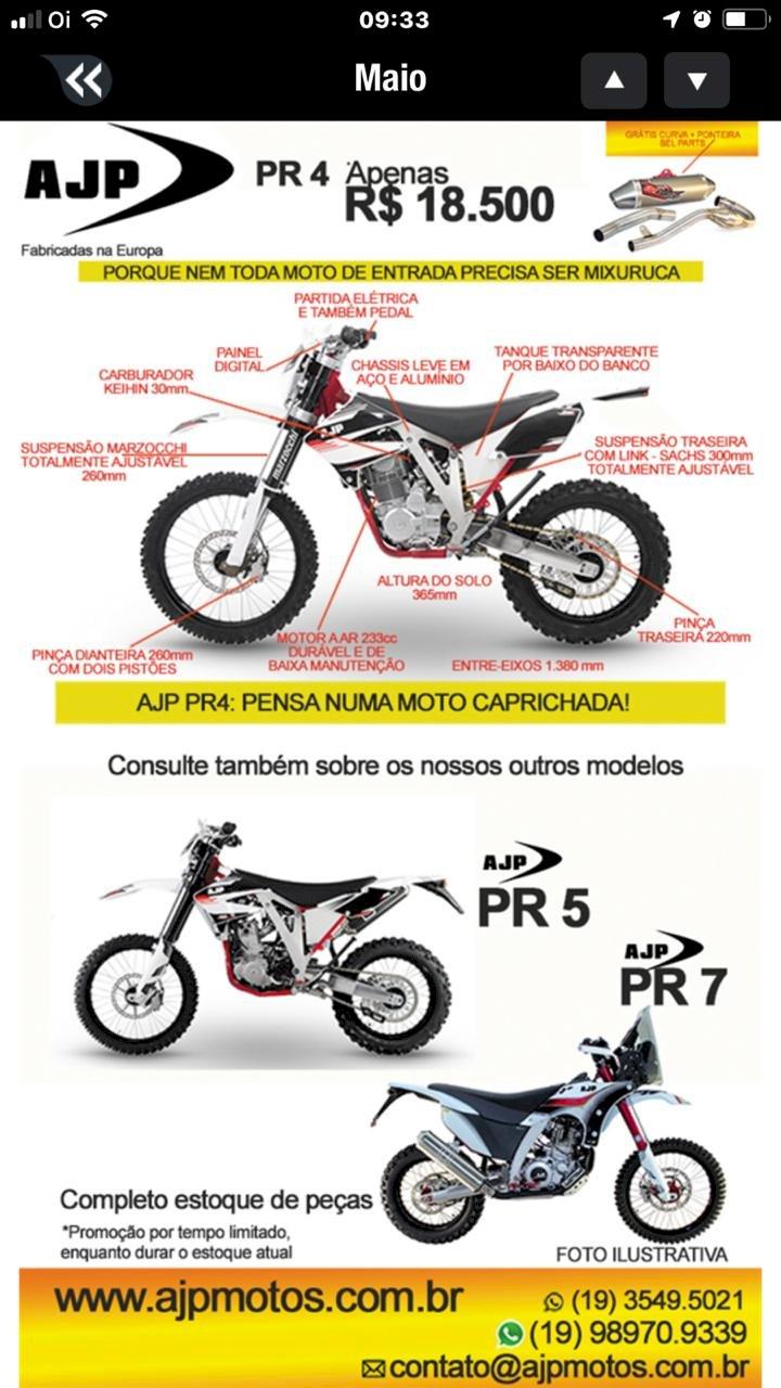 AJP, pense numa moto caprichada