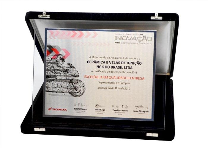 NGK recebe prêmio