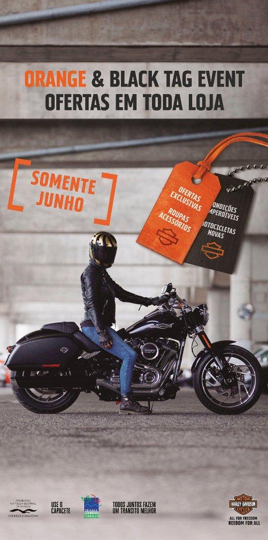 Harley lança campanha Orange & Black