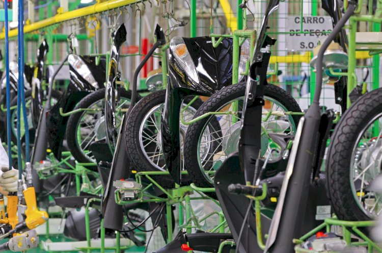 Produção de motos ultrapassa  100 mil