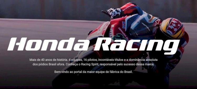Honda Racing Brasil lança novo site