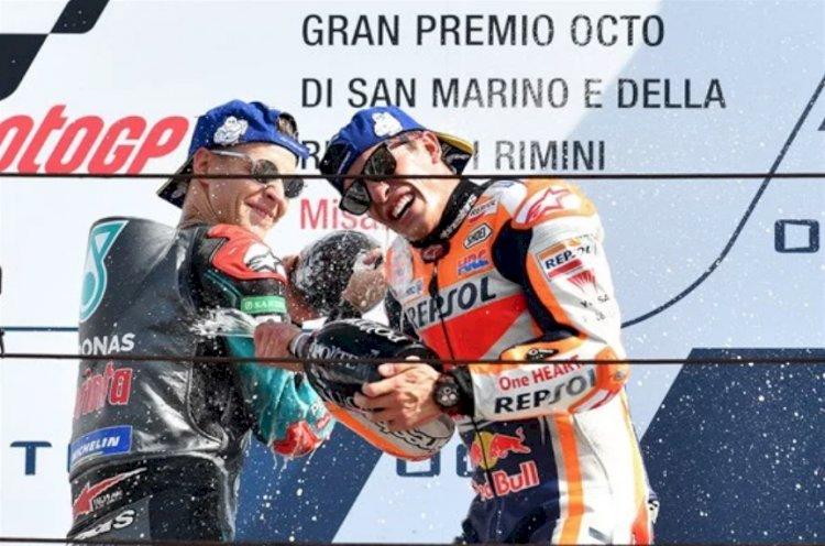 Márquez triunfa sobre Quartararo e vence o GP de San Marino