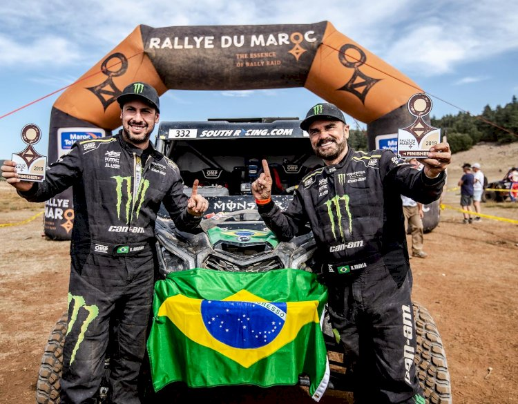 Dupla brasileira  vence no Marrocos e conquista a Copa do Mundo de Rally Cross-Country   com Can-Am Maverick X3
