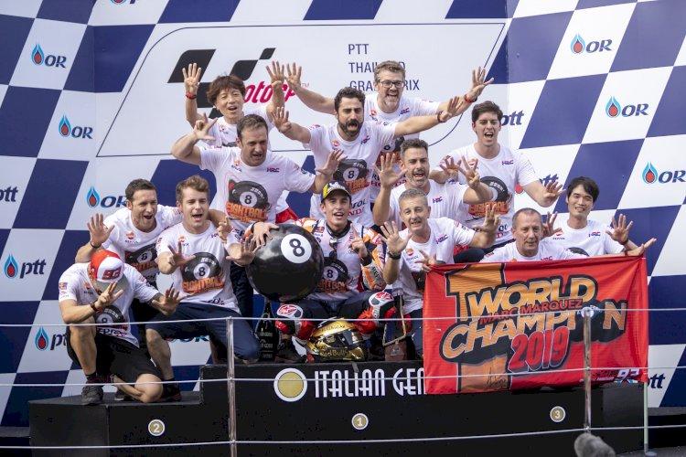 Honda comemora três títulos mundiais em 2019