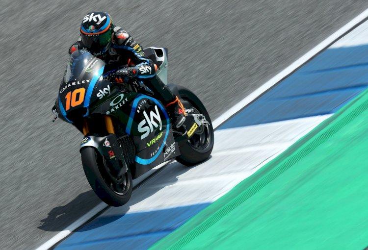 Luca Marini e sua primeira vitória na Moto2