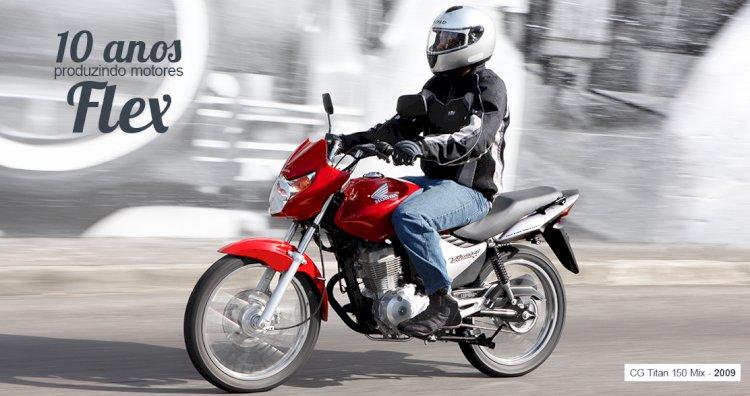 Os 10 anos da tecnologia Flex em motocicletas
