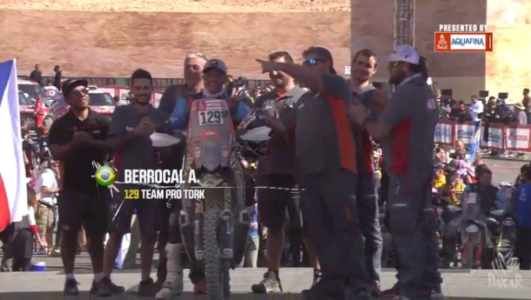 Brasileiro completa o Dakar 2020 nas motos