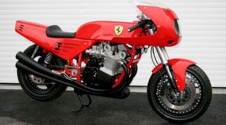 Curiosidade: a motocicleta da Ferrari